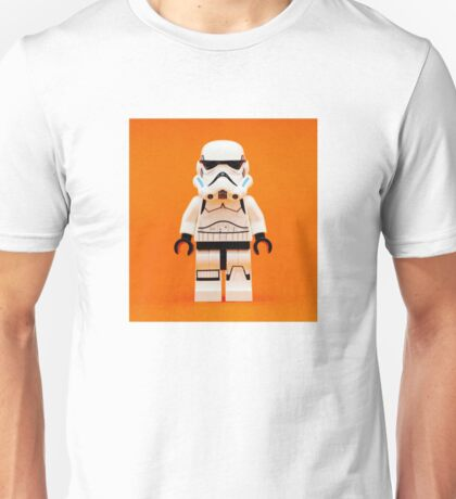 Lego Storm Trooper on Orange Unisex T-Shirt