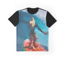 Brave Surfer Graphic T-Shirt