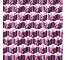 Pink cubes. Photographic Print