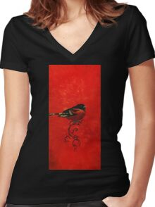 Turning Black Tables Women's Fitted V-Neck T-Shirt