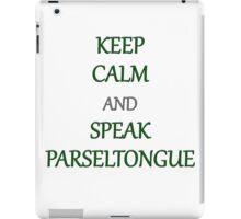 Keep Calm and Speak Parseltongue iPad Case/Skin