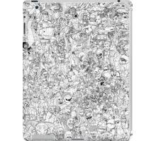 Sci-Fi vs Fantasy coloring poster iPad Case/Skin