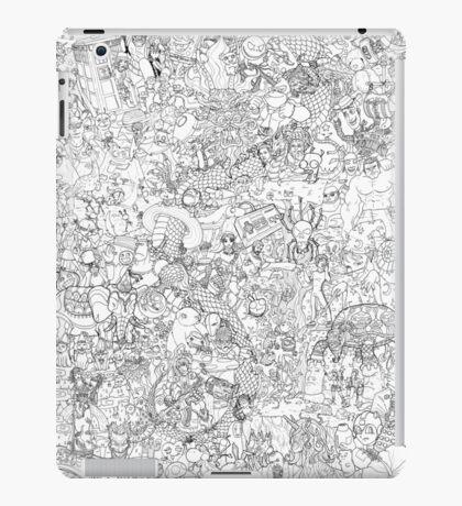 Random and pop-culture coloring poster iPad Case/Skin