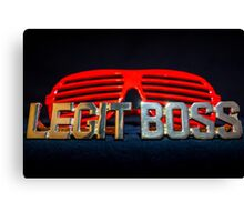 Legit Boss Rings and Red Shutter Shades Canvas Print