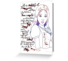 Alice Madness Returns: Hero Complex Greeting Card