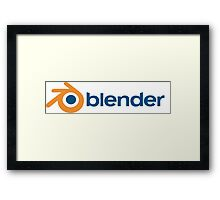 blender 3D design graphics animation render Framed Print