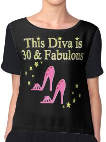 PINK 30TH BIRTHDAY SHOE QUEEN Chiffon Top
