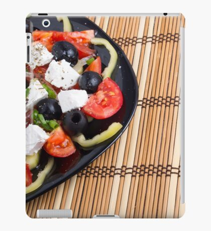 Fresh vegetable salad closeup iPad Case/Skin