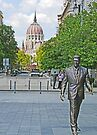 Reagan walking in Budapest by Graeme  Hyde