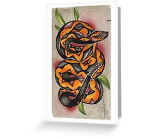 old timey snake tattoo Greeting Card