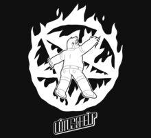 Lotus For Help - Ross Boston Demon Summoner - WHITE by Drew Green