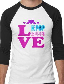 ♥♫Love SNSD-Girls' Generation Fabulous K-Pop Clothes & Phone/iPad/Laptop/MackBook Cases/Skins & Bags & Home Decor & Stationary & Mugs♪♥ Men's Baseball ¾ T-Shirt