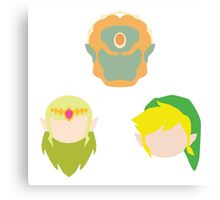 Legend of Zelda Characters Canvas Print