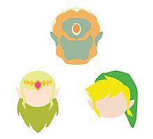 Legend of Zelda Characters Photographic Print