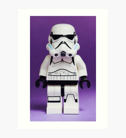 Purple Lego Storm Trooper Art Print