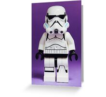 Purple Lego Storm Trooper Greeting Card