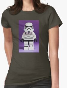 Purple Lego Storm Trooper Womens Fitted T-Shirt