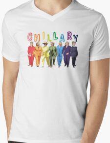 Hillary Clinton Pantsuit white Mens V-Neck T-Shirt