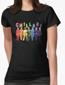 Hillary Clinton Pantsuit white Womens Fitted T-Shirt