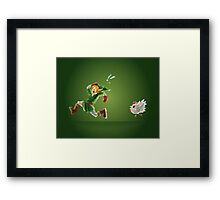Link and Navi Polygon Art Framed Print