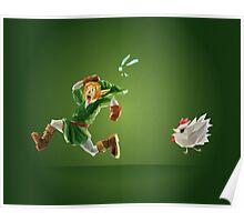 Link and Navi Polygon Art Poster