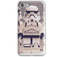 Grey Lego Storm Trooper line up iPhone Case/Skin