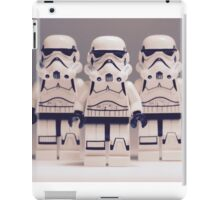 Grey Lego Storm Trooper line up iPad Case/Skin