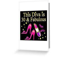 PINK HIGH HEEL 30TH BIRTHDAY DIVA DESIGN Greeting Card