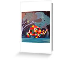 Elmer At Night  Greeting Card