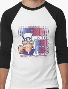 SAVE AMERICA - #2 Men's Baseball ¾ T-Shirt