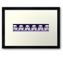 Purple Lego Star Wars Heads Framed Print