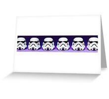 Purple Lego Star Wars Heads Greeting Card