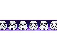 Purple Lego Star Wars Heads Photographic Print
