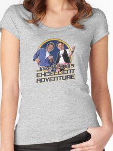 Jack and Sam's Excellent Adventure Women's Fitted Scoop T-Shirt