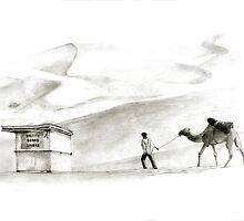 books in the desert by art-koncept