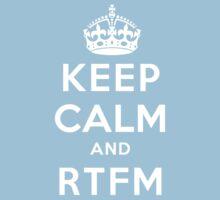 Keep Calm Geeks: RTFM One Piece - Short Sleeve