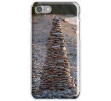 Stone Pyramid on the Beach iPhone Case/Skin