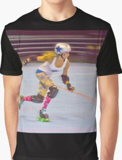 Roller Derby Girl Graphic T-Shirt