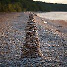 Stone Pyramid on the Beach by Irina777
