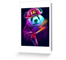 PANDA FIREFIGHTER Greeting Card
