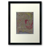 Marbleized Hemp Paper Framed Print