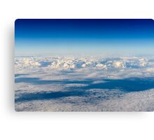 Aerial View Of Planet Earth As Seen From 40.000 Feet Altitude Canvas Print