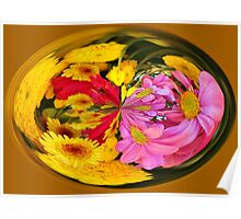 Flowers In A Bubble Poster