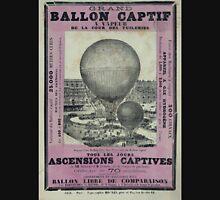 0262 ballooning Grand ballon captif a vapeur de la cour des Tuileries Yves Barret sc Unisex T-Shirt