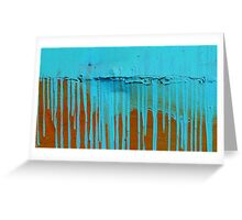 Turquoise paint. Greeting Card