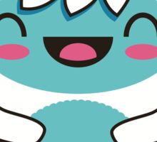 cute blue yetti Sticker