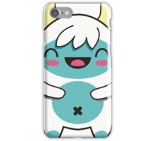 cute blue yetti iPhone Case/Skin