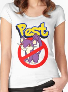 Rattata pest Women's Fitted Scoop T-Shirt