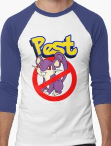 Rattata pest Men's Baseball ¾ T-Shirt