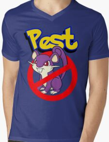 Rattata pest Mens V-Neck T-Shirt